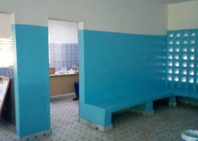 salle d'attente vue sur les salles de soins